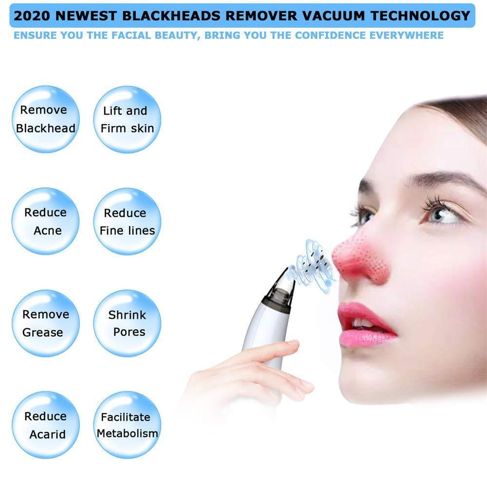 Blackhead Remover Vacuum Pore Cleaner with Strong Suction, Electric Extraction Tool with 6 Replaceable Probes