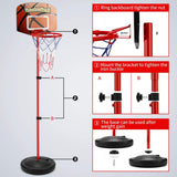 Toddler Basketball Hoop with 3 Balls - Adjustable Height 2.5 ft -5.1 ft