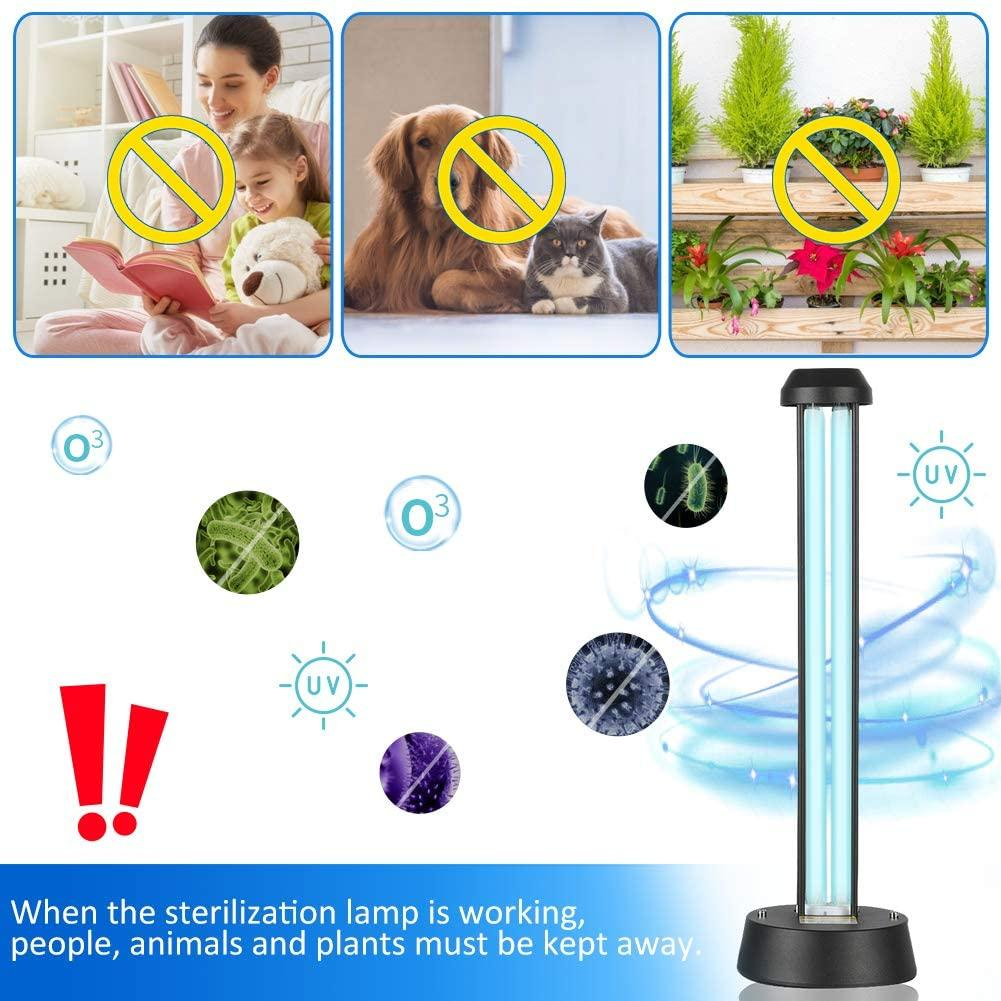 Hideno Desk Lamp with Base 38W,Table Light with 15s Delay Time Remote Controller for Living,Kitchen, Bedroom,School,Office