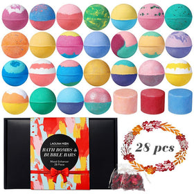Lagunamoon Bath Bombs & Bubble Bars Set 28 Pcs