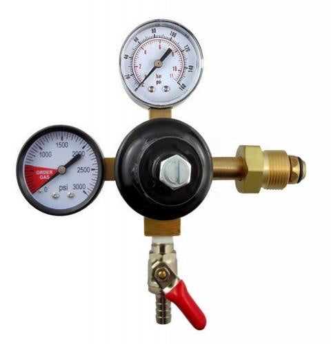 "Taprite Dual Gauge Nitrogen Regulator - Single 1/4"" MFL shutoff"