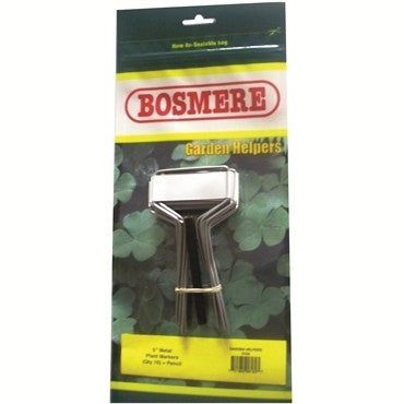 Bosmere 5 inch Metal Plant Markers with Pencil - 10 pack