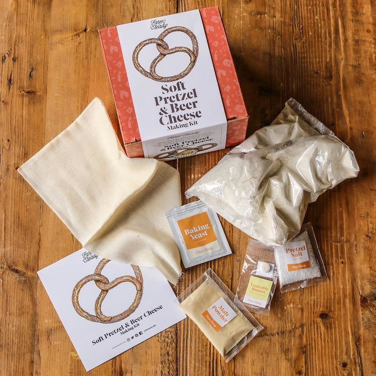 Farmsteady Soft Pretzel and Beer Cheese Making Kit