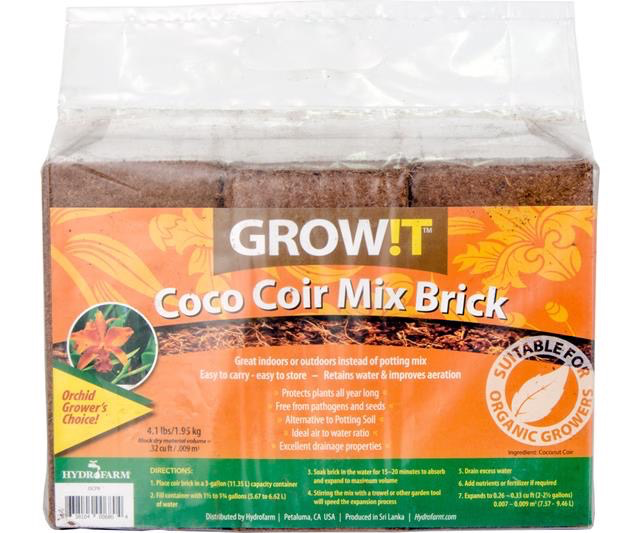 GrowIt Coco Coir Brick - 3 pack