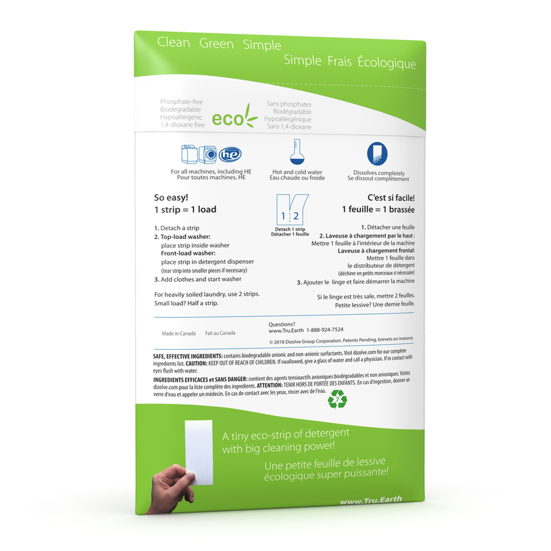 Tru Earth: Fragrance Free Laundry Strips-64 loads