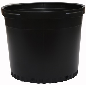 Black Plastic Nursery Pot - 15 gallon