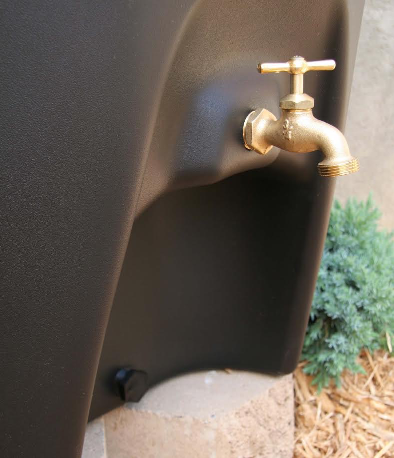 Black Moby Rain Barrel - 65 gal