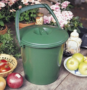 Handy Compost Pail-Green-2.4 gal