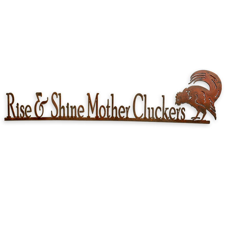 Rise and Shine Metal Wall Sign