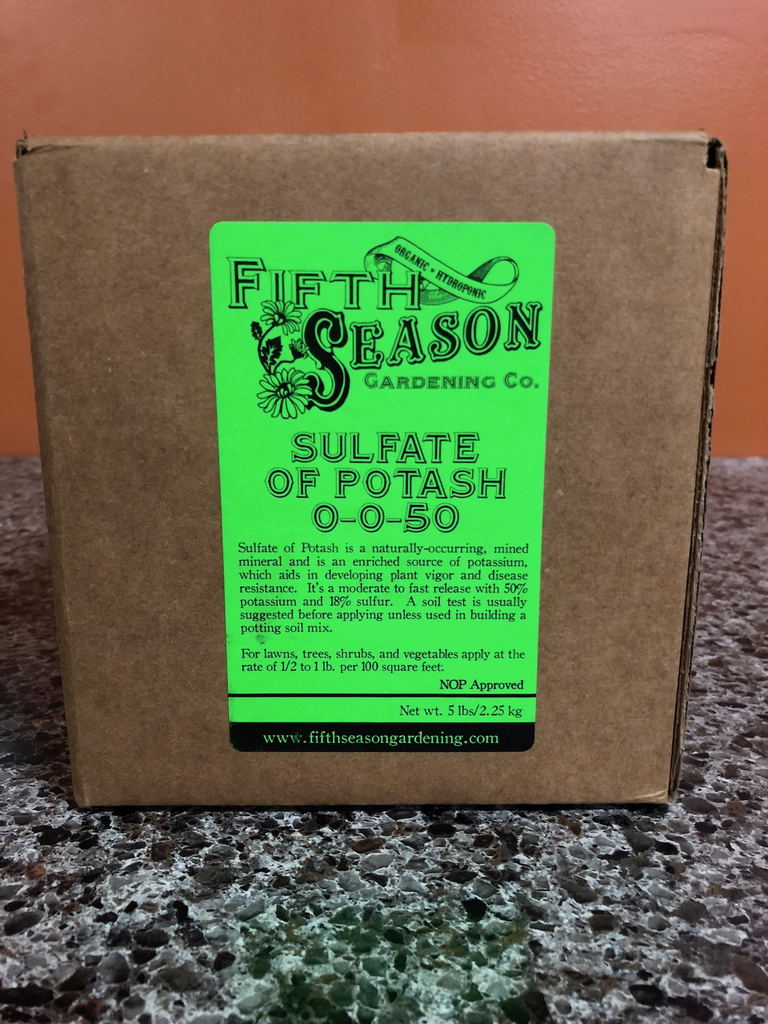 Fifth Season: Sulfate of Potash-5 lb