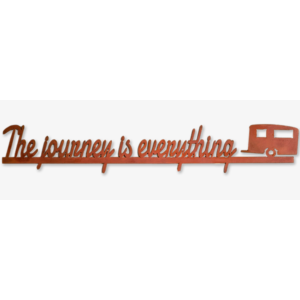 The Journey Is Everything Metal Wall Art