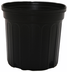 Black Plastic Nursery Pot - 1 gallon