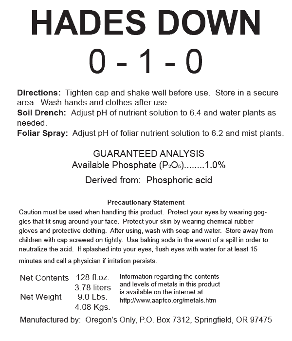 Nectar for the Gods Hades Down - 1 Quart