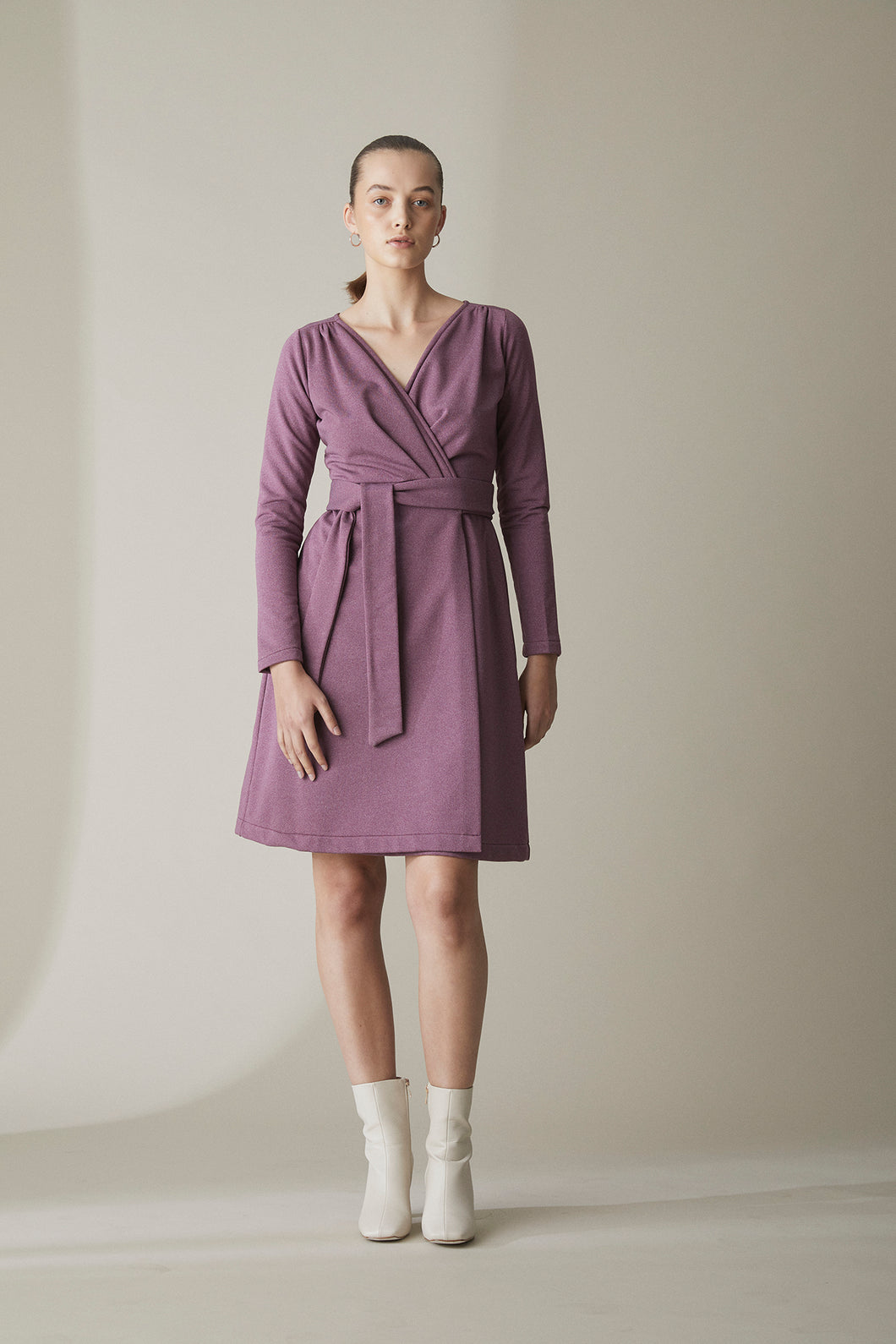 MERINO WRAP DRESS