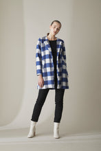 Load image into Gallery viewer, COCOON COAT-ROYAL BLUE