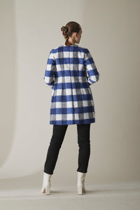COCOON COAT-ROYAL BLUE