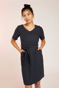 MIA WOOL DRESS -NAVY