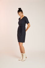 Load image into Gallery viewer, MIA WOOL DRESS -NAVY