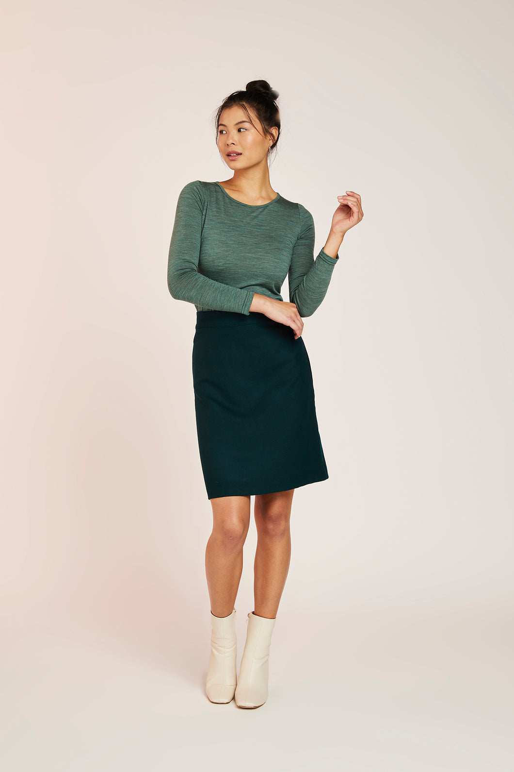 WILLOW WOOL SKIRT