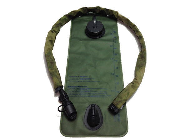 A-TACS FG hydration pack drink tube hose cover shown on a water bladder drink tube. #HydrationTubeCovers #Hydrate