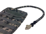 ACU Digital Hydration Pack Drink Tube Cover on an ARMY tactical pack.