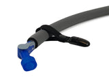 Black Hydration Pack Drink Tube Lanyard Clip