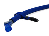 Blue Hydration Pack Drink Tube Lanyard Clip