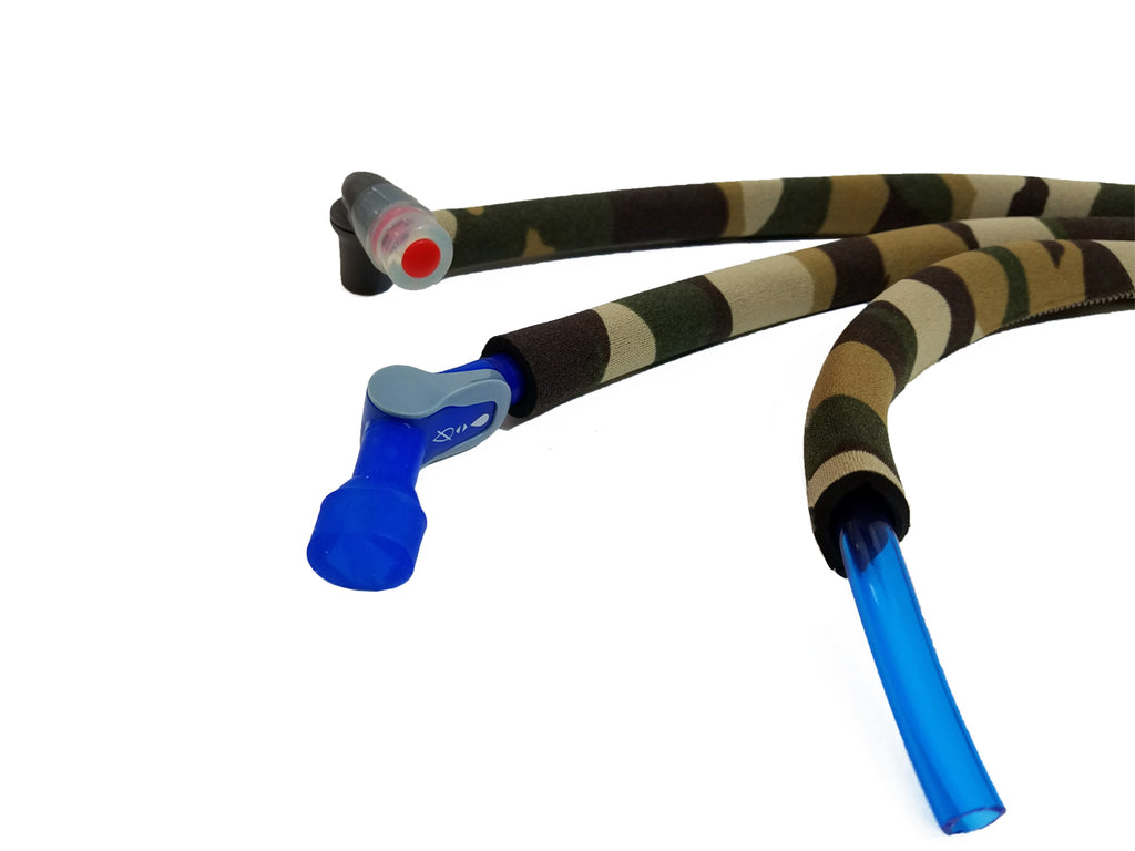 Multi Brown Camo Insulated Neoprene Drink Tube Hose  Cover