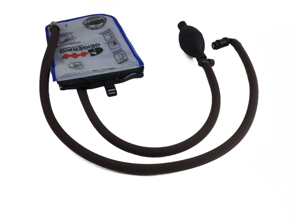 Brown Geigerrig® Hydration Pack Pressurized Engine drink tube covers.