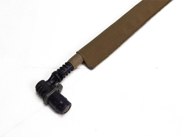 Coyote Brown Cordura Hydration Pack Drink Tube Cover - HydrationTubeCovers.com