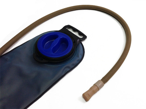 water bladder - reservoir with an insulated drink tube hose cover. #HydrationTubeCovers #Hydrate
