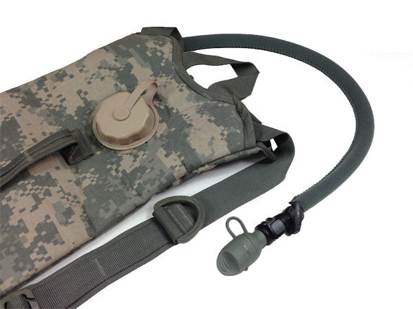 Foliage Insulated Hydration Pack Drink Tube Covers on ACU ARMY Pack.