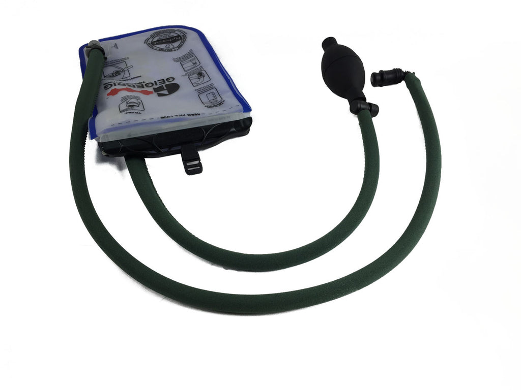 Forest Green Geigerrig® Hydration Pack Pressurized Engine drink tube covers.