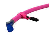 Hot Pink Hydration Pack Drink Tube Lanyard Clip