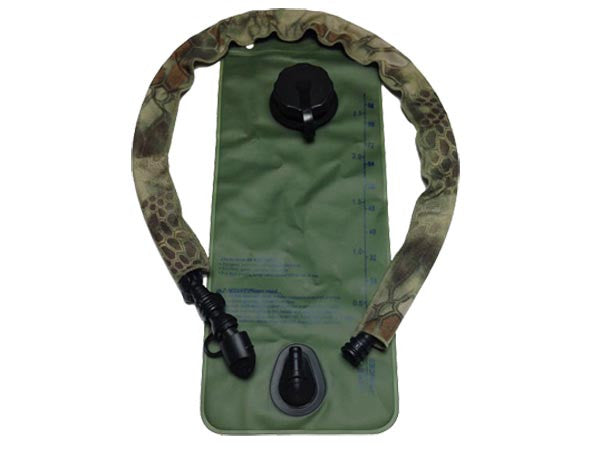 Kryptek Mandrake hydration pack drink tube hose cover shown on a water bladder drink tube. #HydrationTubeCovers #Hydrate