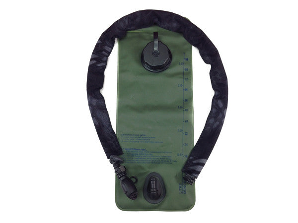 Kryptek Typhoon hydration pack tube cover on a water bladder #HydrationTubeCovers #Hydrate