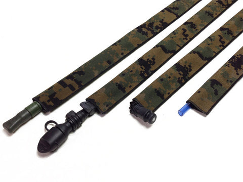 Black Cordura Hydration Pack Drink Tube Cover