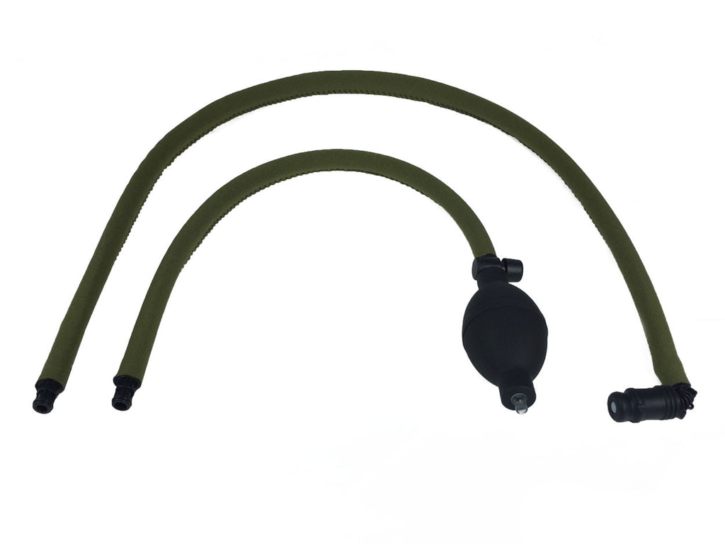 OD Green Geigerrig® Hydration Pack Pressurized Engine drink tube covers.
