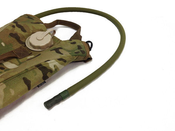Multicam Hydration backpack with a neoprene insulated cover assembled on the drink tube. #HydrationTubeCovers #Hydrate