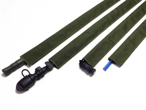 Gray Cordura Hydration Pack Drink Tube Cover