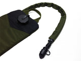 OD Green hydration pack with a drink tube hose cover on it. #HydrationTubeCovers #Hydrate