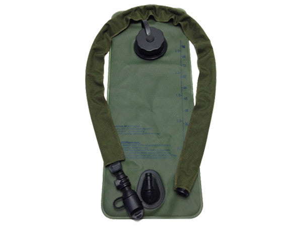 OD Green hydration pack drink tube hose cover shown on a water bladder drink tube. #HydrationTubeCovers #Hydrate