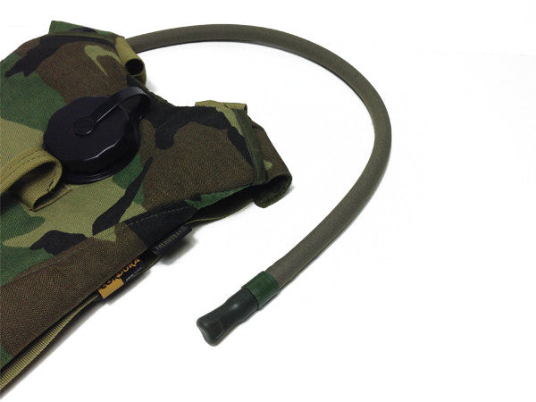 Woodland Hydration backpack with a neoprene insulated cover assembled on the drink tube. #HydrationTubeCovers #Hydrate