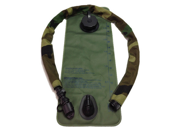 Woodland hydration pack drink tube hose cover shown on a water bladder drink tube. #HydrationTubeCovers #Hydrate