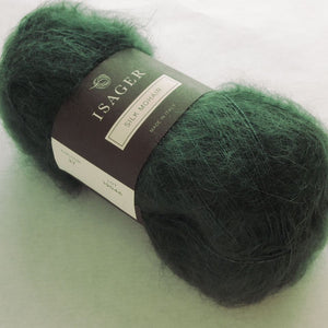 Silk Mohair Isager, 037 Dark green