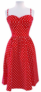 Stop Staring Dress, SUMMERTIME, Red Polka Dot Swing Dress, SUMTIM-01 RDWHD, SPRING SUMMER 2019