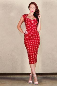 Stop Staring, LOVE, Red Polka Dot Dress, LOVE-03 RDWHD, SPRING SUMMER 2019
