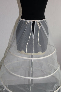 Vintage White Bridal or Formal Sheer Hoop Skirt - One Size