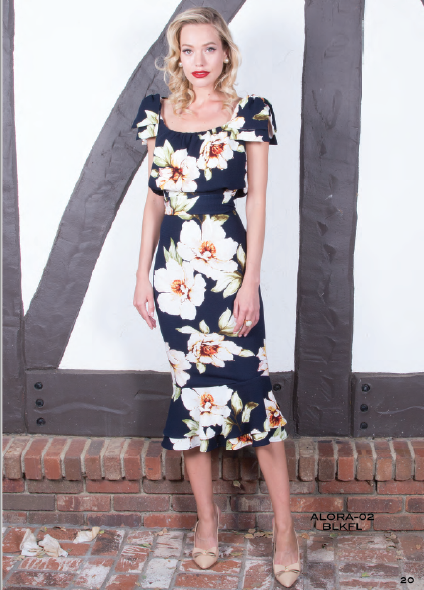 Stop Staring, ALORA Dress, Floral Print Dress, ALORA-02 BLKFL, SPRING SUMMER 2019