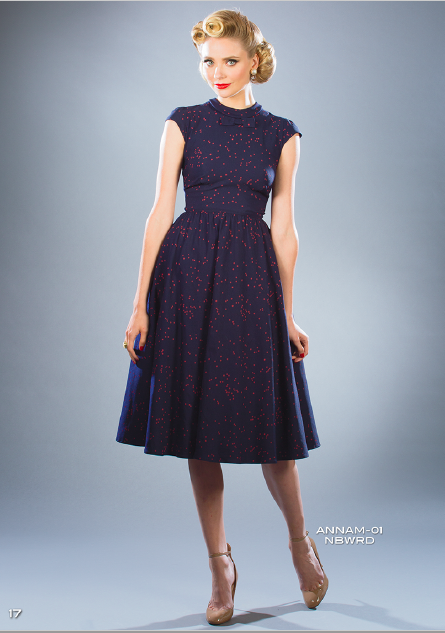 Stop Staring, ANNAM Swing Dress, Navy W Red Dots Dress, ANNAM-01 NBWRD SPRING SUMMER 2018